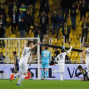 Akhisar Belediyespor's scores during their Turkish superleague soccer match Fenerbahce between Akhisar Belediyespor at the Sukru Saracaoglu stadium in Istanbul Turkey on Monday 23 February 2015. Photo by Kurtulus YILMAZ/TURKPIX