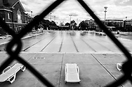 A public pool in Washington DC remains empty during the pandemic.