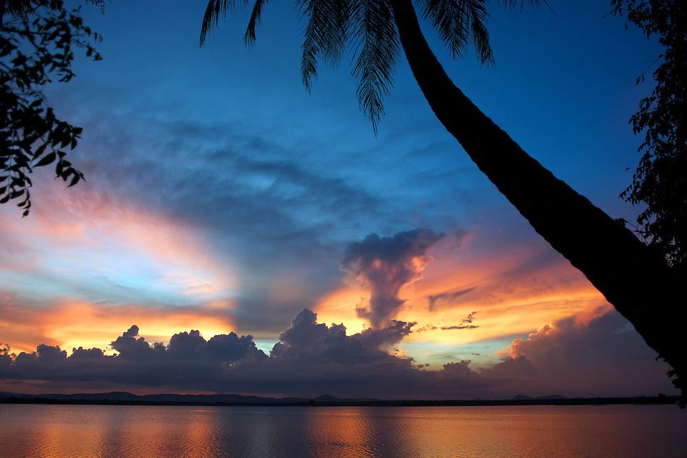 Sunset over the panoramic Parakrama Samudraya.