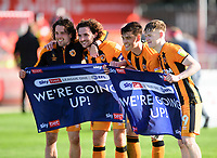 Left to right, Hull City's George Honeyman, Lewis Coyle, Jacob Greaves and Keane Lewis-Potter<br /> <br /> Photographer Andrew Vaughan/CameraSport<br /> <br /> The EFL Sky Bet League One - Lincoln City v Hull City - Saturday 24th April 2021 - LNER Stadium - Lincoln<br /> <br /> World Copyright © 2021 CameraSport. All rights reserved. 43 Linden Ave. Countesthorpe. Leicester. England. LE8 5PG - Tel: +44 (0) 116 277 4147 - admin@camerasport.com - www.camerasport.com