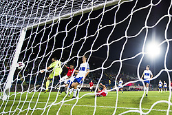 October 5, 2017 - San Marino, SAN MARINO - 171005 Joshua King of Norway scores 3-0 behind goalkeeper Aldo Junior Simoncini of San Marino during the FIFA World Cup Qualifier match between San Marino and Norway on October 5, 2017 in San Marino. .Photo: Fredrik Varfjell / BILDBYRN / kod FV / 150027 (Credit Image: © Fredrik Varfjell/Bildbyran via ZUMA Wire)