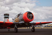 Harvard taxiing at Warbirds Over the West.