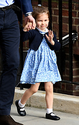 Princess Charlotte enters the Lindo Wing at St Mary's Hospital in Paddington, London. Photo credit should read: Doug Peters/EMPICS Entertainment