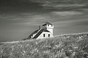 Secluded beach house nestled in the dune grass, Cape Cod,  Massachusetts, USA