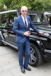 © Licensed to London News Pictures. 10/06/2016. London, UK. Dylan Jones arrives at the opening for London Collections Men at 180 The Strand. Photo credit : Tom Nicholson/LNP