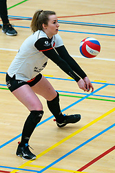 Juliët Huisman of Apollo 8 in action during the first league match between Laudame Financials VCN vs. Apollo 8 on February 06, 2021 in Capelle aan de IJssel.