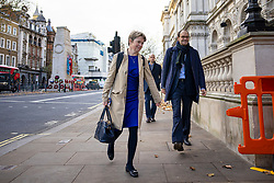 © Licensed to London News Pictures. 13/11/2020. London, UK. Head of NHS Test and Trace DIDO HARDING (centre) arrives at Downing Street. Photo credit: Rob Pinney/LNP
