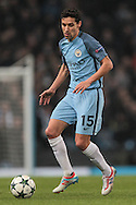 Jesús Navas (Manchester City) during the Champions League match between Manchester City and Celtic at the Etihad Stadium, Manchester, England on 6 December 2016. Photo by Mark P Doherty.