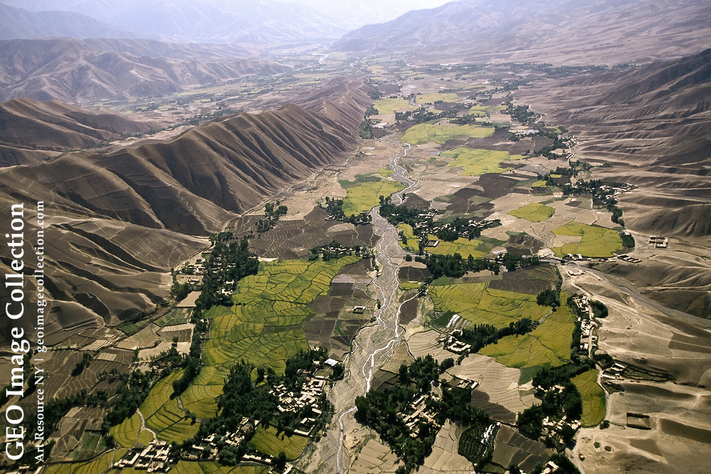 In the area of Feyzabad, fields stretch as far as the eye can see. Afghanistan