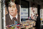 A riverside bookshop on Cankarjevo Nabrezje in the Slovenian capital, Ljubljana, on 25th June 2018, in Ljubljana, Slovenia.
