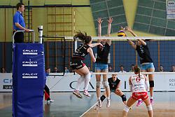 Iza Mlakar of Maribor during volleyball game between Calcit Kamnik and Nova KBM Branik in 4th leg of Finals of Slovenian National Championship 2015, on April 14, 2015 in Sportna dvorana, Kamnik, Slovenia. Photo by Matic Klansek Velej / Sportida