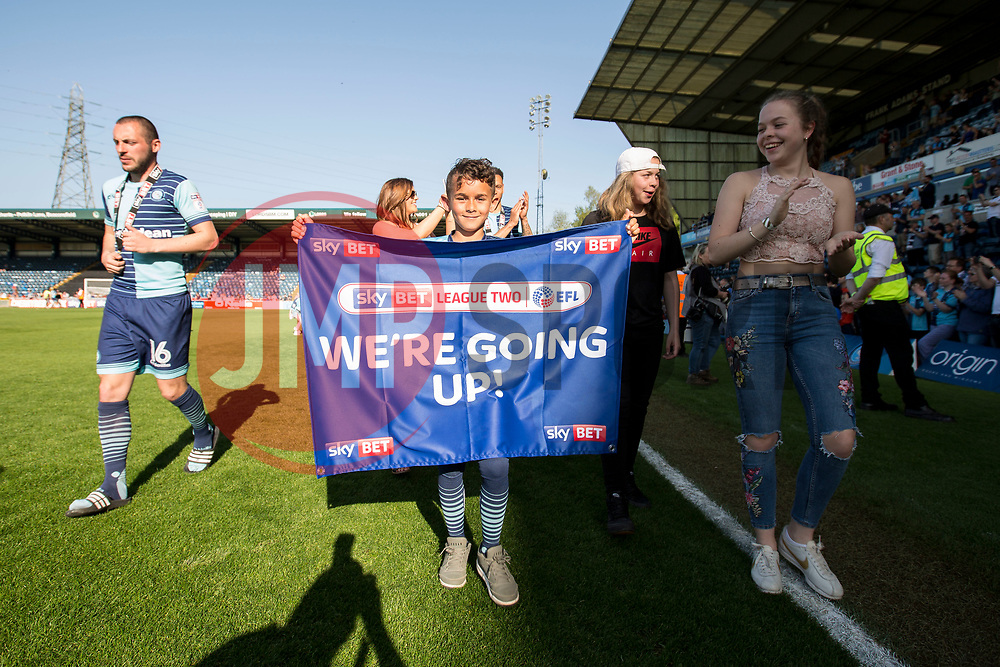 Free to use courtesy of Sky Bet, Players and family do a lap of honour around at the pitch for the fans - Mandatory by-line: Jason Brown/JMP - 05/05/2018 - FOOTBALL - Adam's Park - High Wycombe, England - Wycombe Wanderers v Stevenage - Sky Bet League Two