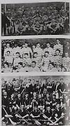 top: Dublin (Faughs)-All-Ireland Hurling Champions 1920. Back Row: Bob Mockler (capt), M Hayes, M Neville, T Moore, T Hayes, J Cleary, E Tobin, R Doherty, James Walsh, T Daly (goal), F Burke, J J Callinan, Joe Phelan, John Ryan, J Clune. Officials (on left), Tim Gleeson (Chairman of Faughs). .middle: Limerick -All-Ireland Hurling Champions 1921. Back Row: W Ryan, D Murnane, D Lanigan, W Hough, W Hurley, M Murphy, W P Clifford, Middle Row: M Mullane, T Managan, R McConkey(capt), J Humphreys, J Keane, G Howard, T McGrath. Front Row: P McInerney, C Ryan, W Gleeson, J O'Callaghan. .bottom: Kilkenny-All-Ireland Hurling Champions 1922. Back Row: Peter Dunne (Mascot-arms corssed), Bill Walton (manager), Ballyfrunk Creamery (with cap), Jack Rochford (Trainer), Mick Heffernan (with hat), players only, Tom Tierney, Bill Brennan, Ned Purcell (Official), Eddie Dunphy, Dick Grace, Matty Power, Bill Kenny, Mick Brennan (no jersey). Middle Row: Paddy Patterson (with hat), Sean Gibbons, Martin Lalor, Jimmy Tobin, Paddy Donoghue, Wattie Dunphy (capt), Mark McDonald, Jack Holohan, Paddy Glenson, Miss Gorey, Tim Scott, Mick Dalton (with cap standing). Front Row: Martin Egan (with hat), Tommy Carroll, Dick Tobin, John Roberts, Pat Ayleward, Mickey Whelan.