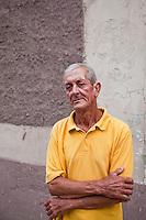 Cuban man on the streets of Santa Clara, Cuba.