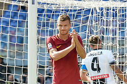 September 23, 2017 - Rome, Italy - Edin Dzeko during the Italian Serie A football match between A.S. Roma and Udinese at the Olympic Stadium in Rome, on september 23, 2017. (Credit Image: © Silvia Lore/NurPhoto via ZUMA Press)