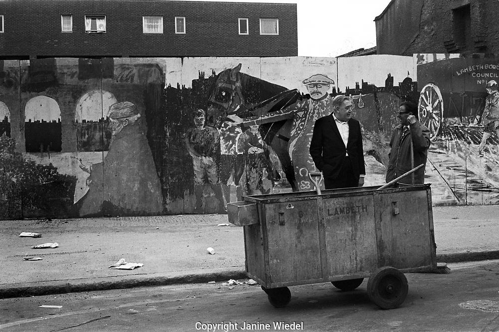 Lambeth Walk London wall mural 1970s
