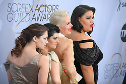 January 27, 2019 - Los Angeles, California, U.S - RACHEL BLOOM, KIMMY GATEWOOD, REBEKKA JOHNSON AND BRITNEY YOUNG during silver carpet arrivals for the 25th Annual Screen Actors Guild Awards, held at The Shrine Expo Hall. (Credit Image: © Kevin Sullivan via ZUMA Wire)