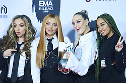November 4, 2018 - Madrid, Madrid, Spain - Little Mix poses in the press room during the 25th MTV EMAs 2018 held at Bilbao Exhibition Centre 'BEC' on November 5, 2018 in Madrid, Spain (Credit Image: © Jack Abuin/ZUMA Wire)