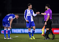 Edward Upson of Bristol Rovers after the final whistle of the match  - Mandatory by-line: Ryan Hiscott/JMP - 12/01/2021 - FOOTBALL - Memorial Stadium - Bristol, England - Bristol Rovers v AFC Wimbledon - Papa John's Trophy