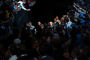 Rory MacDonald walks to the Octagon before his fight against Robbie Lawler during UFC 189 at the MGM Grand Garden Arena in Las Vegas, Nevada on July 11, 2015. (Cooper Neill)