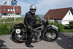 Motorcycle Cannonball coast to coast vintage run. Portland, ME. Friday September 7, 2018. Photography ©2018 Michael Lichter.