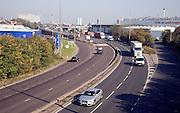 Dual carriageway A63 Hessle Road, Hull, Yorkshire, England