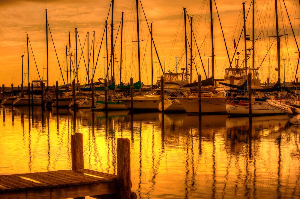 Doats docked at Panama City Florida