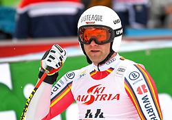 14.02.2020, Zwölferkogel, Saalbach Hinterglemm, AUT, FIS Weltcup Ski Alpin, Super G, Herren, im Bild Romed Baumann (GER) // Romed Baumann of Germany reacts after his run for the men's SuperG of FIS Ski Alpine World Cup at the Zwölferkogel in Saalbach Hinterglemm, Austria on 2020/02/14. EXPA Pictures © 2020, PhotoCredit: EXPA/ Erich Spiess