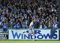 CELE - Bristol Rovers' Ryan Sweeney celebrates scoring his side's second goal <br /> <br /> Photographer Ashley Crowden/CameraSport<br /> <br /> The EFL Sky Bet League One - Bristol Rovers v Blackpool - Saturday 23rd September 2017 - Memorial Stadium - Bristol<br /> <br /> World Copyright © 2017 CameraSport. All rights reserved. 43 Linden Ave. Countesthorpe. Leicester. England. LE8 5PG - Tel: +44 (0) 116 277 4147 - admin@camerasport.com - www.camerasport.com