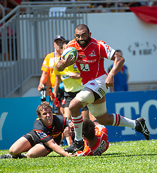 May 19, 2018 - Hong Kong, Hong Kong, China - Left flanker, Michael Leitch runs with the ball.Japanese team Sunwolves win 26-23 over South Africa's Stormers in Rugby Super League's Hong Kong debut. Mong Kok Stadium, Hong Kong . Photo Jayne Russell (Credit Image: © Jayne Russell via ZUMA Wire)