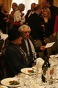 Diana Athill and Charles Wheeler. Oldie magazine's Oldie of the Year Awards 2006. Simpson's. the Strand. London.21 March 2006.  ONE TIME USE ONLY - DO NOT ARCHIVE  © Copyright Photograph by Dafydd Jones 66 Stockwell Park Rd. London SW9 0DA Tel 020 7733 0108 www.dafjones.com