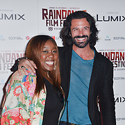 Chizzy Akudolu and Christian Vit attends the Raindance Opening Gala 2018 held at Vue West End, Leicester Square on September 26, 2018 in London, England.