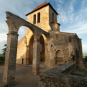 Roman church Vertaizon in evening light