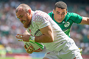 Twickenham, United Kingdom 25th May 2019 HSBC London Sevens, Englands, Tom BOWEN, running in for a try during the pool C Match England vs Ireland, played at  the  RFU Stadium, Twickenham, England, <br /> © PeterSPURRIER: Intersport Images<br /> <br /> 12:17:07 25.05.19