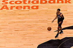 February 11, 2019 - Toronto, Ontario, Canada - Patrick Mc Caw #1 of the Toronto Raptors with the ball during the Toronto Raptors vs Brooklyn Nets NBA regular season game at Scotiabank Arena on February 11, 2019, in Toronto, Canada (Toronto Raptors win 127-125) (Credit Image: © Anatoliy Cherkasov/NurPhoto via ZUMA Press)