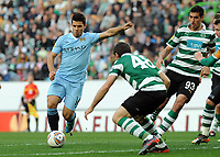 20120308: LISBON, PORTUGAL – UEFA Europa League 2011/2012 - 1st Leg: Sporting CP vs Man. City.<br /> In photo: Kun Aguero<br /> PHOTO: Alvaro Isidoro/CITYFILES