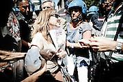 Una manifestante durante la protesta del 2 agosoto. Christian Mantuano/OneShot
