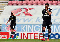 Blackburn Rovers' Danny Graham shows his frustration during the second half<br /> <br /> Photographer David Shipman/CameraSport<br /> <br /> Football - The EFL Sky Bet Championship - Wigan Athletic v Blackburn Rovers - Saturday 13th August 2016 - DW Stadium - Wigan<br /> <br /> World Copyright © 2016 CameraSport. All rights reserved. 43 Linden Ave. Countesthorpe. Leicester. England. LE8 5PG - Tel: +44 (0) 116 277 4147 - admin@camerasport.com - www.camerasport.com