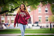 St. Claire Derrick-Jules on campus at Brown University.