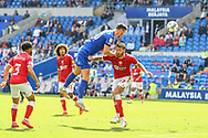 Cardiff City forward Kieffer More (10) in action during the EFL Sky Bet Championship match between Cardiff City and Bristol City at the Cardiff City Stadium, Cardiff, Wales on 28 August 2021.