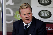 Everton Manager Ronald Koeman looks on prior to kick off. Premier League match, Burnley v Everton at Turf Moor in Burnley , Lancs on Saturday 22nd October 2016.<br /> pic by Chris Stading, Andrew Orchard sports photography.
