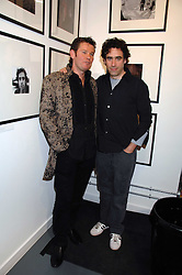 Left to right, Photographer & curator of the exhibition CAMBRIDGE JONES and actor STEPHEN MANGAN at an exhibition of photographs commissioned by children's charity Barnardo's held at the Getty Images gallery, Eastcastle Street, London on 24th April 2008.<br />