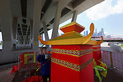 Singapore. River Hongbao preparations.