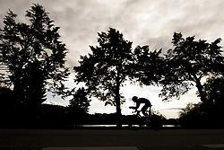 September 18, 2017 - Bergen, NORWAY - 170918 Iver Johan Knotten of Norway competes during the Men Under 23 Individual Time Trial on September 18, 2017 in Bergen..Photo: Vegard Wivestad GrÂ¿tt / BILDBYRN / kod VG / 170015 (Credit Image: © Vegard Wivestad Gr¯Tt/Bildbyran via ZUMA Wire)
