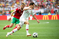 June 20, 2018 - Moscow, Russia - 180620 Cedric of Portugal and Hakim Ziyach of Morocco during the FIFA World Cup group stage match between Portugal and Morocco on June 20, 2018 in Moscow..Photo: Petter Arvidson / BILDBYRÃ…N / kod PA / 92072 (Credit Image: © Petter Arvidson/Bildbyran via ZUMA Press)