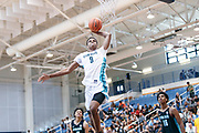 THOUSAND OAKS, CA Sunday, August 12, 2018 - Nike Basketball Academy. LaTrayvion Jackson 2019 #9 of Sunrise Christian Academy rises for a dunk. <br /> NOTE TO USER: Mandatory Copyright Notice: Photo by John Lopez / Nike