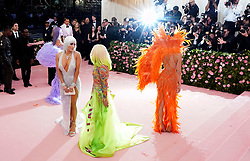 Jennifer Lopez, Donatella Versace and Kendall Jenner attending the Metropolitan Museum of Art Costume Institute Benefit Gala 2019 in New York, USA.