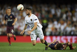 May 9, 2019 - Valencia, Spain - Cristiano Piccini of Valencia controls the ball during the UEFA Europa League Semi Final Second Leg match between Valencia and Arsenal at Estadio Mestalla on May 9, 2019 in Valencia, Spain. (Credit Image: © Jose Breton/NurPhoto via ZUMA Press)