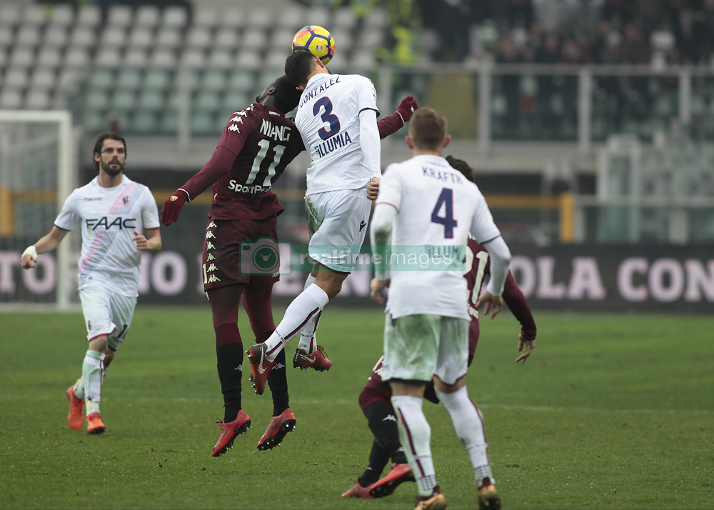 January 6, 2018 - Turin, Italy - Giancarlo Gonzalez and Niang M'Baye  during Serie A match between Torino v Bologna, in Turin, on January 6, 2018  (Credit Image: © Loris Roselli/NurPhoto via ZUMA Press)