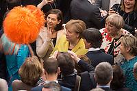 12 FEB 2017, BERLIN/GERMANY:<br /> Olivia Jones, Dragqueen, Katrin Goering-Eckardt, B90/Gruene, Fraktionsvorsitzende und Spitzenkandidatin, Angela Merkel, CDU, Bundeskanzlerin, Joachim Loew, Fussball-Bundestrainer, und Claudia Roth, B90/Gruene, ehem. Bundesvorsitzende, (v.L.n.R.), im Gespräch, 16. Bundesversammlung zur Wahl des Bundespraesidenten, Reichstagsgebaeude, Deutscher Bundestag<br /> IMAGE: 20170212-02-030<br /> KEYWORDS; Gespräch, Katrin Göring-Eckardt, Joachim Löw,<br /> Bundespraesidentenwahl, Bundespräsidetenwahl